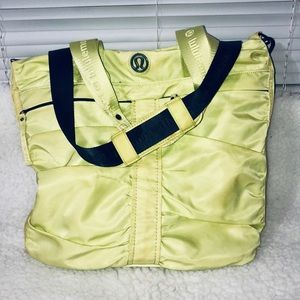 Lululemon Fast In Flight Neon Lime Messenger Bag